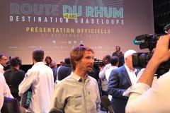 Interview pendant la conférence de presse à la Maison de La Radio à Paris