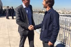Echange avec François-Michel Lambert, parrain du trimaran et Président de l'Institut National de l'économie circulaire